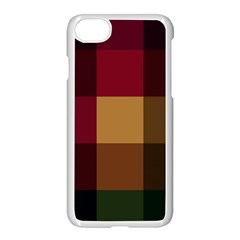 Stripes Plaid Color Apple Iphone 7 Seamless Case (white) by Mariart
