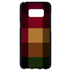 Stripes Plaid Color Samsung Galaxy S8 Black Seamless Case by Mariart