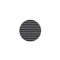 Tribal Stripes Black White 1  Mini Buttons by Mariart