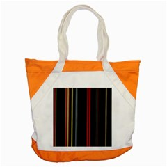 Stripes Line Black Red Accent Tote Bag by Mariart