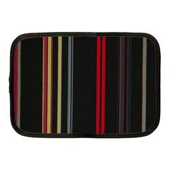 Stripes Line Black Red Netbook Case (medium)  by Mariart