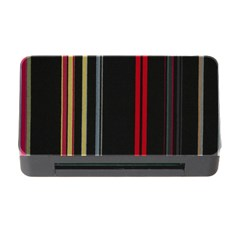 Stripes Line Black Red Memory Card Reader With Cf by Mariart