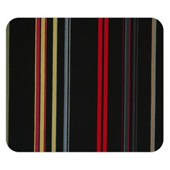 Stripes Line Black Red Double Sided Flano Blanket (small)  by Mariart