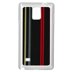 Stripes Line Black Red Samsung Galaxy Note 4 Case (white) by Mariart