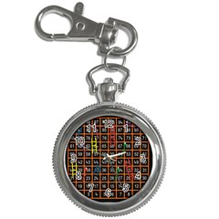 Snakes Ladders Game Plaid Number Key Chain Watches by Mariart