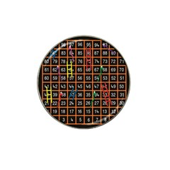 Snakes Ladders Game Plaid Number Hat Clip Ball Marker (4 Pack) by Mariart