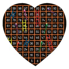 Snakes Ladders Game Plaid Number Jigsaw Puzzle (heart) by Mariart