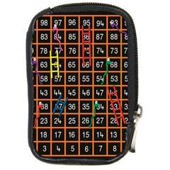 Snakes Ladders Game Plaid Number Compact Camera Cases by Mariart