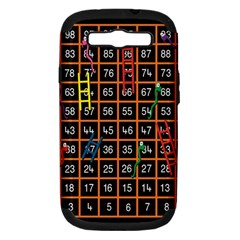 Snakes Ladders Game Plaid Number Samsung Galaxy S Iii Hardshell Case (pc+silicone) by Mariart