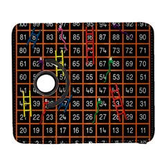 Snakes Ladders Game Plaid Number Galaxy S3 (flip/folio) by Mariart