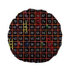 Snakes Ladders Game Plaid Number Standard 15  Premium Round Cushions by Mariart