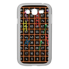 Snakes Ladders Game Plaid Number Samsung Galaxy Grand Duos I9082 Case (white) by Mariart