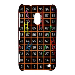 Snakes Ladders Game Plaid Number Nokia Lumia 620 by Mariart