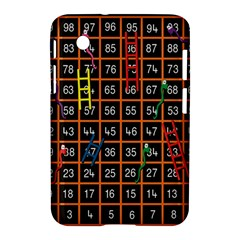 Snakes Ladders Game Plaid Number Samsung Galaxy Tab 2 (7 ) P3100 Hardshell Case  by Mariart