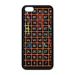 Snakes Ladders Game Plaid Number Apple Iphone 5c Seamless Case (black) by Mariart