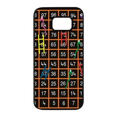 Snakes Ladders Game Plaid Number Samsung Galaxy S7 Edge Black Seamless Case by Mariart