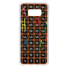 Snakes Ladders Game Plaid Number Samsung Galaxy S8 Plus White Seamless Case by Mariart