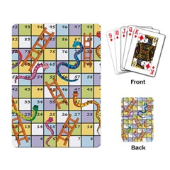 Snakes Ladders Game Board Playing Card by Mariart