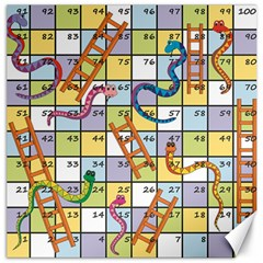 Snakes Ladders Game Board Canvas 20  X 20   by Mariart