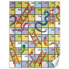Snakes Ladders Game Board Canvas 36  X 48   by Mariart