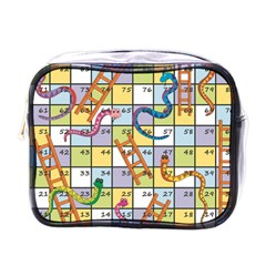 Snakes Ladders Game Board Mini Toiletries Bags by Mariart