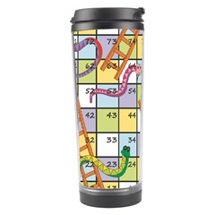 Snakes Ladders Game Board Travel Tumbler by Mariart