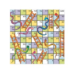 Snakes Ladders Game Board Small Satin Scarf (square) by Mariart