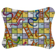Snakes Ladders Game Board Jigsaw Puzzle Photo Stand (bow) by Mariart