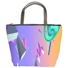 Triangle Wave Rainbow Bucket Bags by Mariart