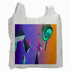 Triangle Wave Rainbow Recycle Bag (one Side) by Mariart
