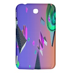Triangle Wave Rainbow Samsung Galaxy Tab 3 (7 ) P3200 Hardshell Case  by Mariart
