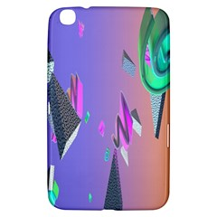 Triangle Wave Rainbow Samsung Galaxy Tab 3 (8 ) T3100 Hardshell Case  by Mariart
