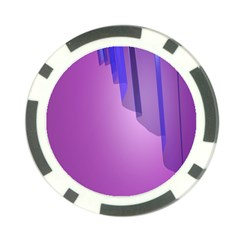 Verre Bleu Wave Chevron Waves Purple Poker Chip Card Guard (10 Pack) by Mariart