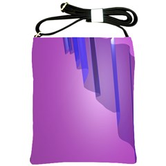 Verre Bleu Wave Chevron Waves Purple Shoulder Sling Bags by Mariart
