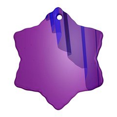 Verre Bleu Wave Chevron Waves Purple Snowflake Ornament (two Sides) by Mariart
