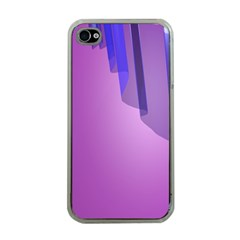 Verre Bleu Wave Chevron Waves Purple Apple Iphone 4 Case (clear) by Mariart