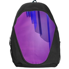 Verre Bleu Wave Chevron Waves Purple Backpack Bag by Mariart