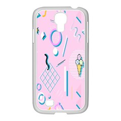 Vintage Unique Graphics Memphis Style Geometric Samsung Galaxy S4 I9500/ I9505 Case (white) by Mariart