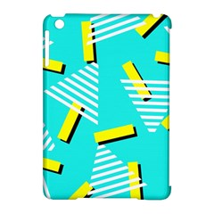 Vintage Unique Graphics Memphis Style Geometric Triangle Line Cube Yellow Green Blue Apple Ipad Mini Hardshell Case (compatible With Smart Cover) by Mariart