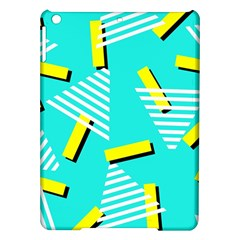 Vintage Unique Graphics Memphis Style Geometric Triangle Line Cube Yellow Green Blue Ipad Air Hardshell Cases by Mariart