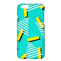 Vintage Unique Graphics Memphis Style Geometric Triangle Line Cube Yellow Green Blue Apple Iphone 6 Plus/6s Plus Hardshell Case by Mariart