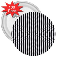 Vertical Lines Waves Wave Chevron Small Black 3  Buttons (100 Pack)  by Mariart