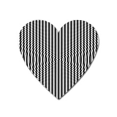 Vertical Lines Waves Wave Chevron Small Black Heart Magnet by Mariart