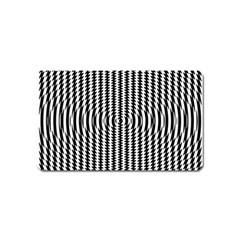 Vertical Lines Waves Wave Chevron Small Black Magnet (name Card) by Mariart