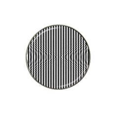 Vertical Lines Waves Wave Chevron Small Black Hat Clip Ball Marker by Mariart