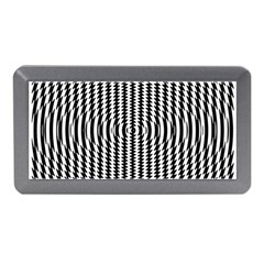 Vertical Lines Waves Wave Chevron Small Black Memory Card Reader (mini) by Mariart