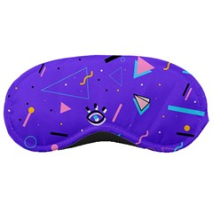Vintage Unique Graphics Memphis Style Geometric Style Pattern Grapic Triangle Big Eye Purple Blue Sleeping Masks by Mariart