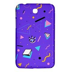 Vintage Unique Graphics Memphis Style Geometric Style Pattern Grapic Triangle Big Eye Purple Blue Samsung Galaxy Tab 3 (7 ) P3200 Hardshell Case  by Mariart