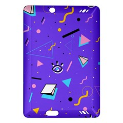 Vintage Unique Graphics Memphis Style Geometric Style Pattern Grapic Triangle Big Eye Purple Blue Amazon Kindle Fire Hd (2013) Hardshell Case by Mariart