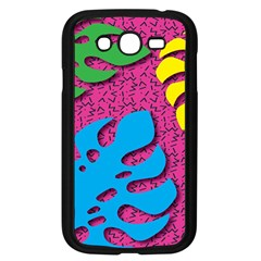 Vintage Unique Graphics Memphis Style Geometric Leaf Green Blue Yellow Pink Samsung Galaxy Grand Duos I9082 Case (black) by Mariart